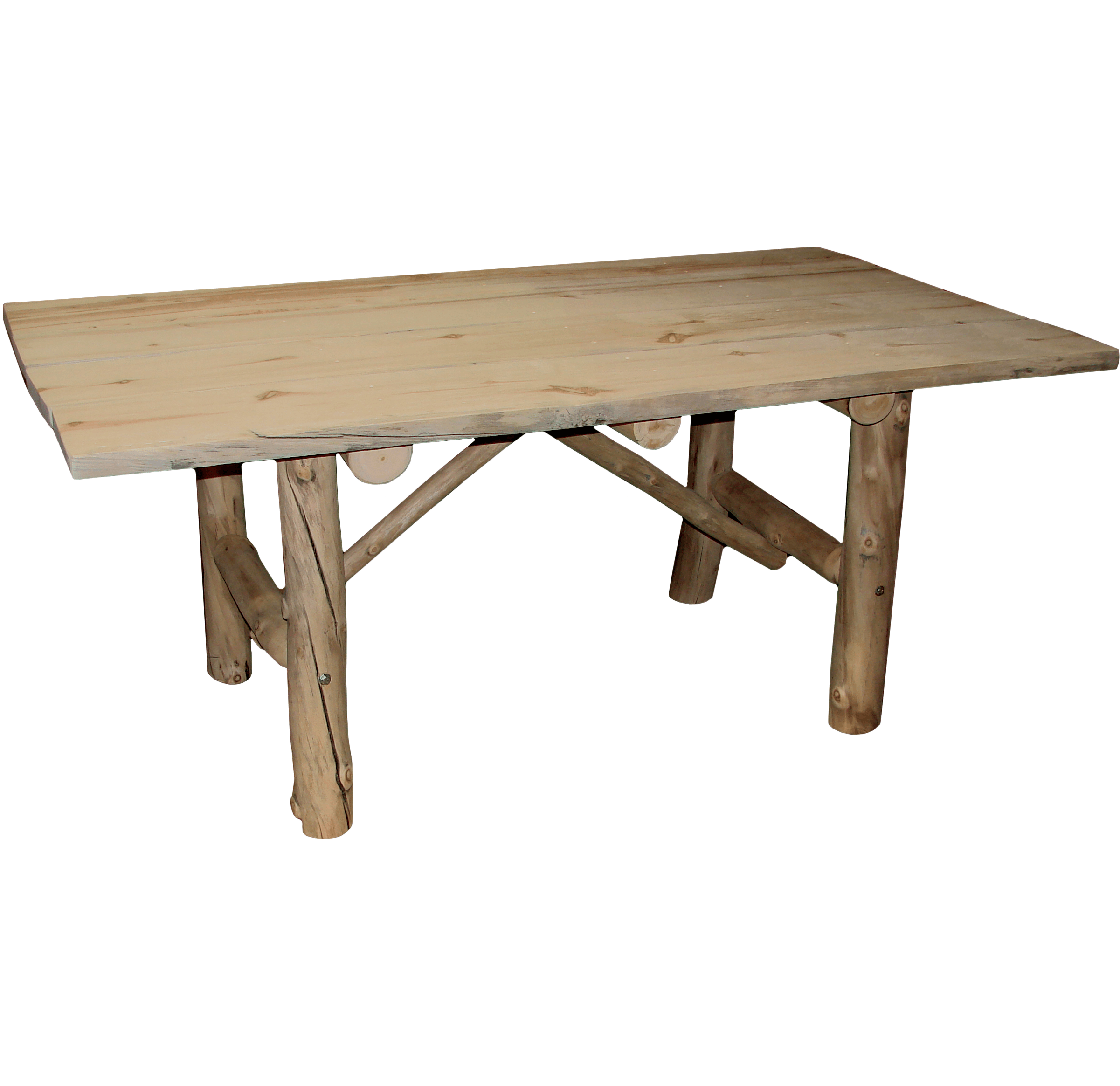 Aspen Log Picnic Table With Benches Rustic Log Furniture