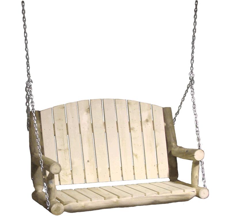 Outdoor rustic log furniture of utah for Log swing plans