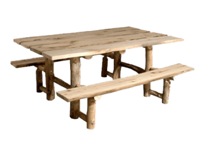 "36""x72"" Aspen Picnic Table w/ Attached Benches"