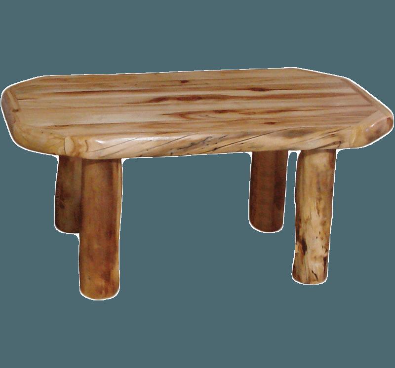 Aspen Log Standard Coffee Table With Drawer Rustic Log Furniture Of Utah