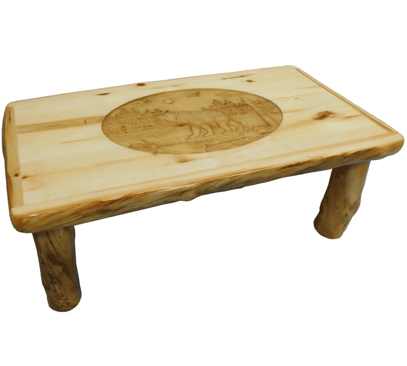 Aspen Log Standard Coffee Table Rustic Log Furniture Of Utah