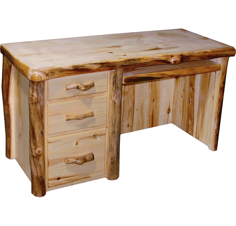 Aspen Log Desk Rustic Log Furniture Of Utah