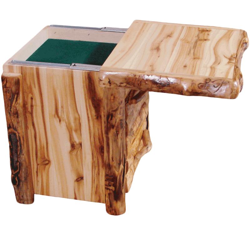 Aspen Log 2 Drawer Nightstand Rustic Log Furniture Of Utah