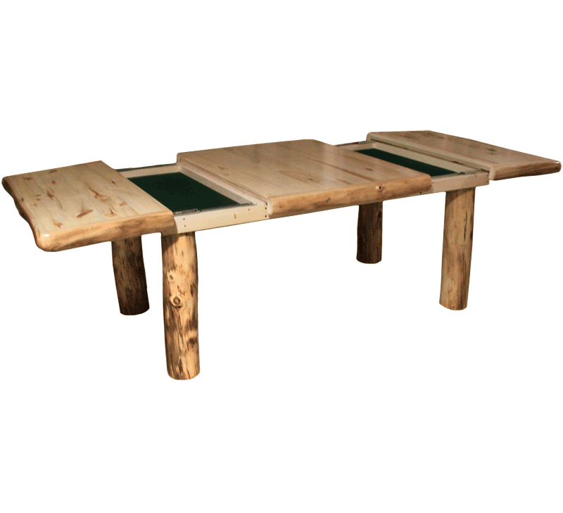 Aspen log square dining table rustic log furniture of utah for Table description