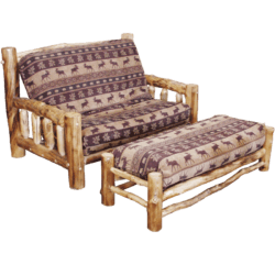 gunner futons full brown rustic product furniture mankato by kodiak wood natural futon marmont
