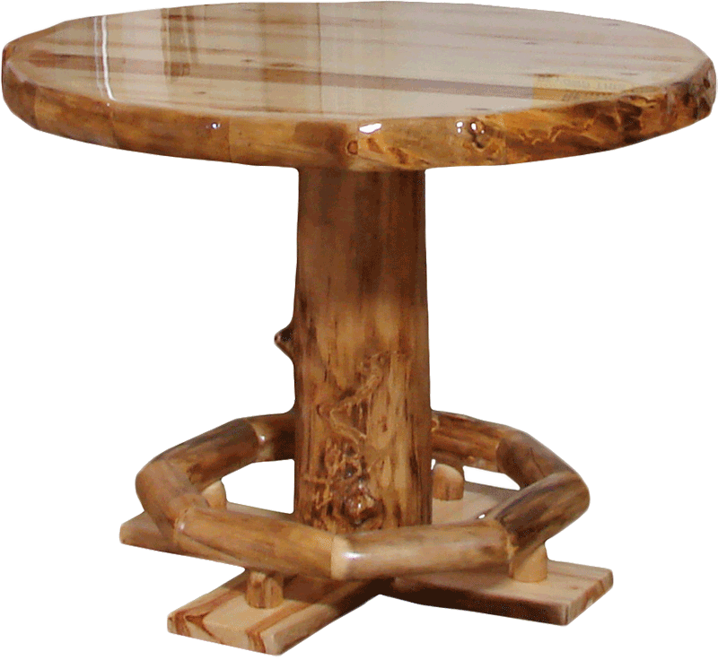 Aspen Log Square Dining Table Rustic Log Furniture Of Utah
