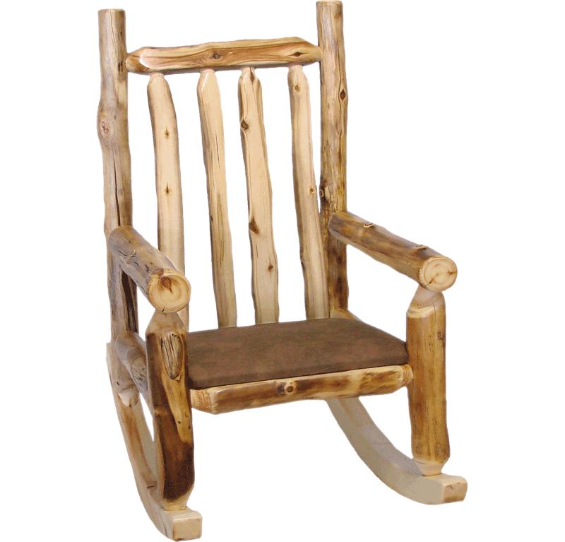 Aspen Log Rocking Chair Rustic Log Furniture Of Utah