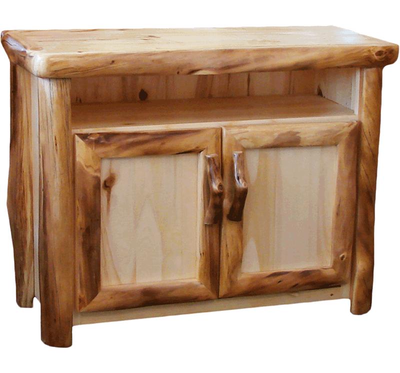 Aspen Log Tv Stand Rustic Log Furniture Of Utah