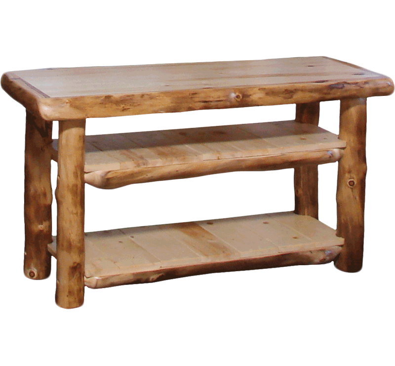 Aspen Log Tv Table Rustic Log Furniture Of Utah