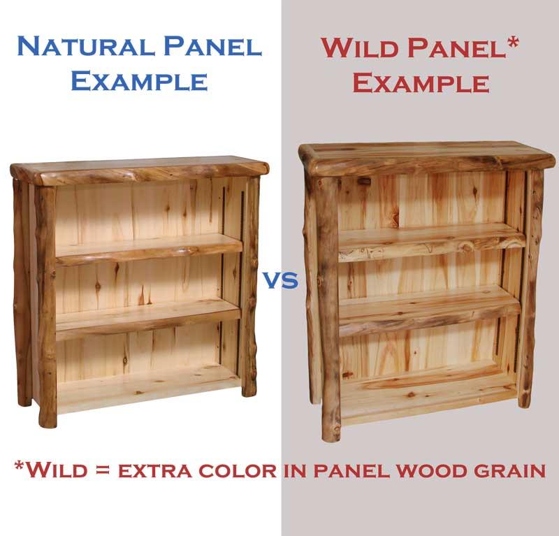 Aspen Log 85 Quot Tall Display Shelf Rustic Log Furniture Of