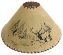 Wildlife lampshade rustic log furniture of utah deerbuck lampshade elk lampshade aloadofball Gallery