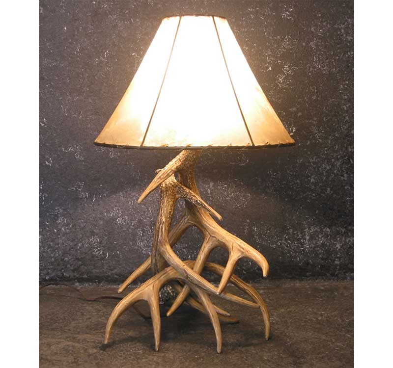 Deer Antler Table Lamps Rustic Log Furniture Of Utah