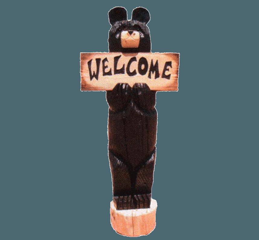 6' Carved Bear | Rustic Log Furniture of Utah