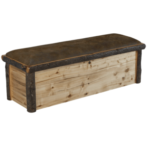Hickory Log Hope Chest with Upholstered Top Option