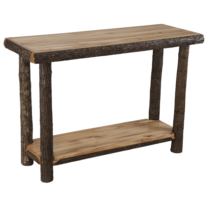 Hickory Log Sofa Table