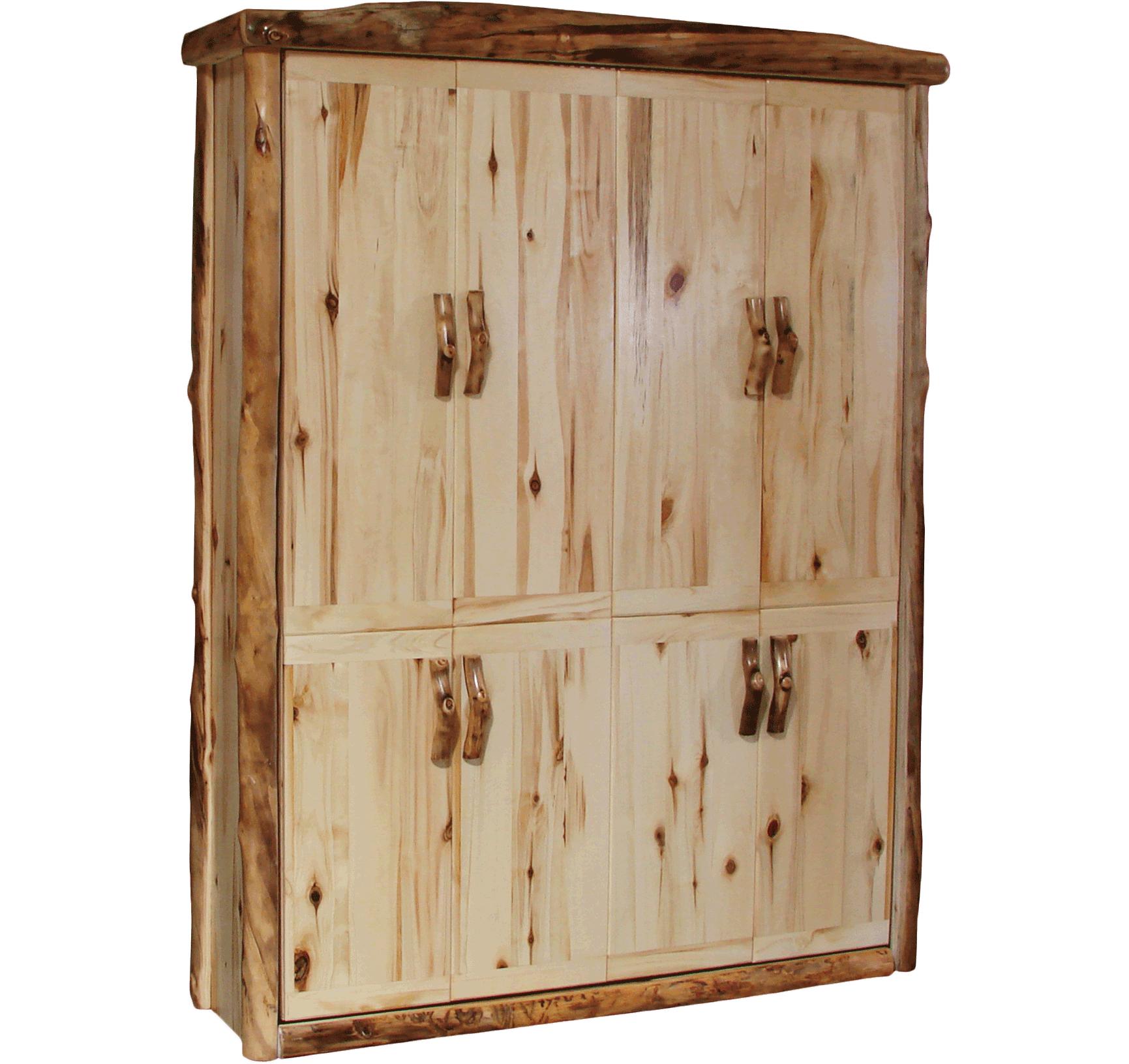 Aspen log murphy bed rustic furniture of utah