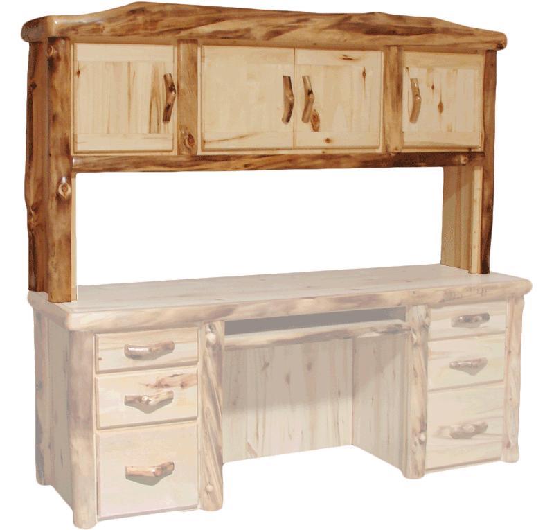 Aspen Log Desk Hutch